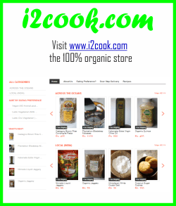BUY i2cook Organic Ingredients from our website www.i2cook.com